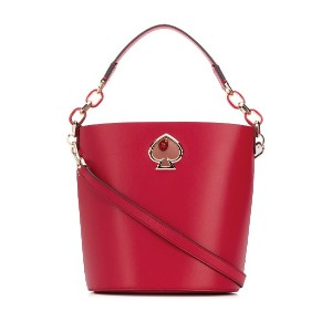 Kate Spade ロゴ バケットバッグ - レッド
