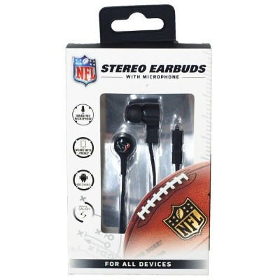 NFL テキサンズ Stereo Earbuds with Microphone マイク イヤフォン Mizco
