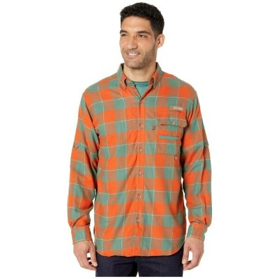 コロンビア Columbia メンズ シャツ トップス【Sharptail Flannel】Backcountry Orange Chunky Plaid