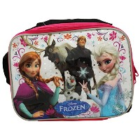 Disney Frozen アナと雪の女王 ランチバッグ Lunch Bag with Strap Features Elsa Anna Olaf Kristoff Sven