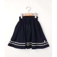 【3can4on(Kids)(サンカンシオン(キッズ))】 【100-150cm】マリンテイストスカート OUTLET > 3can4on(Kids) > スカート > 膝丈スカート ネイビー