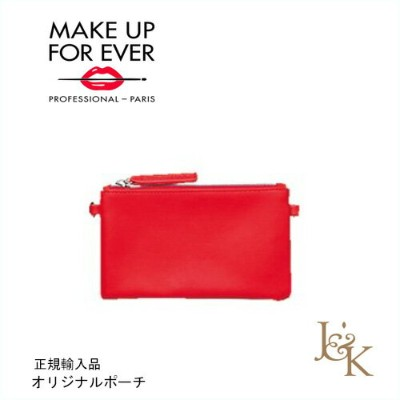 MAKE UP FOR EVER メイクアップフォーエバー オリジナルポーチ レッド【正規輸入品】