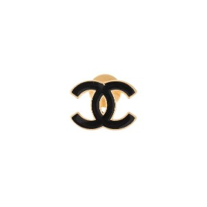 Chanel Pre-Owned ココマーク ブローチ - ブラック
