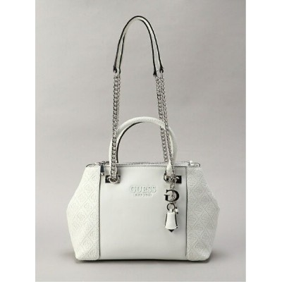 GUESS (W)HOLLY Status Carryall ゲス バッグ トートバッグ ホワイト【送料無料】