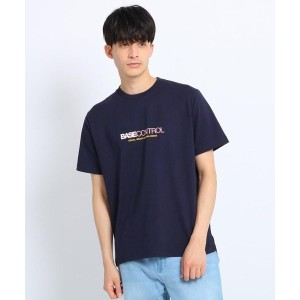 【BASE CONTROL(ベースコントロール)】 ロゴプリントTシャツ OUTLET > BASE CONTROL > トップス > Tシャツ ネイビー