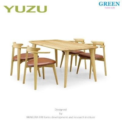 34%OFF [ダイニング5点セット] GREEN home style YUZU DINING TABLE B160 + CHAIR D (グリーン ホームスタイル ユズ ダイニングテーブル...