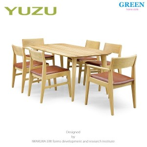41%OFF [7点] GREEN home style YUZU DINING TABLE B160 + ARM CHAIR F + SIDE CHAIR F (グリーン ホームスタイル ユズ...