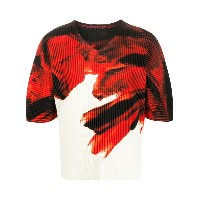 Homme Plissé Issey Miyake プリント Tシャツ - レッド
