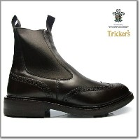 トリッカーズ TRICKER'S ESPRESSO BURNISHED M2754 ELASTIC SIDED BROGUE BOOTS HENRY SIDE GORE ダイナイトソール...