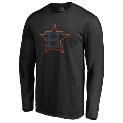 Houston Astros Black Taylor Long Sleeve T-Shirt メンズ