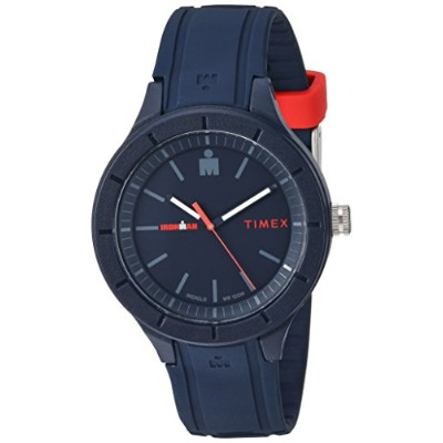 腕時計 タイメックス レディース 【送料無料】Timex TW5M17000 Ironman Essential Urban Analog 42mm Navy/Red Silicone Strap...