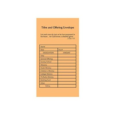 1 X Offering Envelope - Tithe And Offering (3.5 x 6.5)