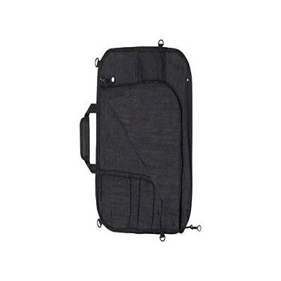 Messermeister 8-Pocket Padded Knife Roll, Black Denim