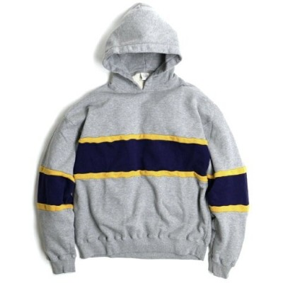 TOWNCRAFT TOWNCRAFT/(M)3TONE LINE PULL HOODIE セルストア カットソー パーカー グレー【送料無料】