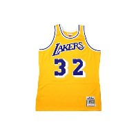 MITCHELL&NESS AUTHENTIC THROWBACK JERSEY (Los Angeles Lakers 1984-85/Magic Johnson: Yellow)ミッチェル&ネス...