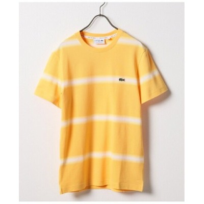 【SALE/50%OFF】LACOSTE LACOSTE PIQUE RAYE OMBRE BORDER SS-T ジャーナル スタンダード カットソー Tシャツ イエロー ネイビー ホワイト...