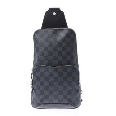 LOUIS VUITTON ルイヴィトン ダミエ グラフィット アヴェニュースリングバッグ 黒/グレー N41719 メンズ ボディバッグ 新品 銀蔵