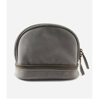 【SALE/50%OFF】AZUL by moussy ECOSUEDEROUNDPOUCH/エコスエードラウンドポーチ アズールバイマウジー バッグ ポーチ グレー ピンク