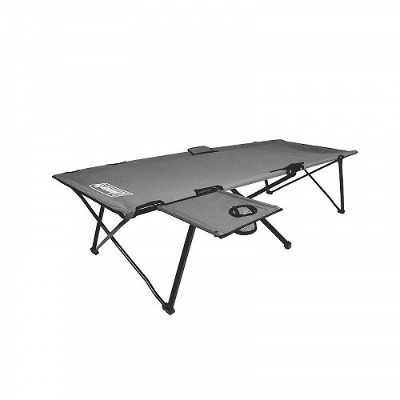 Coleman Extra Wide Pack Away Camping Cot with Side Table キャンプ コット 簡易ベッド【送料無料】【代引不可】【あす楽不可】