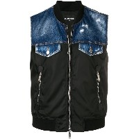 Dsquared2 sleeveless denim gilet - ブラック