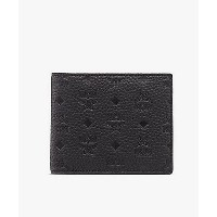 MCM(Men)/エムシーエム  BOTTOM UP LEATHER FLAP WALLET/TWO-FOLD SMALL BLACK【三越伊勢丹/公式】 財布~~メンズ財布~~コインケース