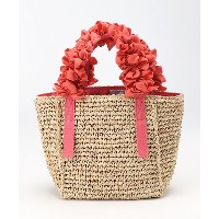 LUDLOW(Women)  Grape handle tote (Raffia) Ssize Coral【三越伊勢丹/公式】 バッグ~~トートバッグ~~レディース トートバッグ