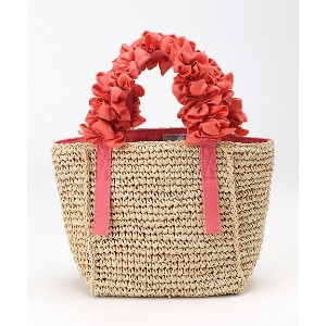 LUDLOW(Women)/ラドロー  Grape handle tote (Raffia) Ssize Coral【三越伊勢丹/公式】 バッグ~~トートバッグ~~レディース トートバッグ