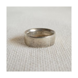 flemington vintage(Women)/フレミントン ヴィンテージ(ヴィンテージ)  1980s simple wide silver band ring【三越伊勢丹/公式】...