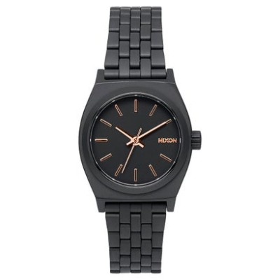 ニクソン NIXON Small Time Teller (All Black / Rose Gold)