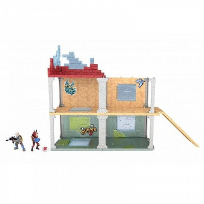 Fortnite Battle Royale Mega Fort Playset with 2 Exclusive Mini Figures: Blue Squire & Tricera Ops...