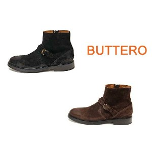 【BUTTERO】ブッテロ メンズ ショートブーツ スエードレザー B4403 SCAA(SUEDE LEATHER)