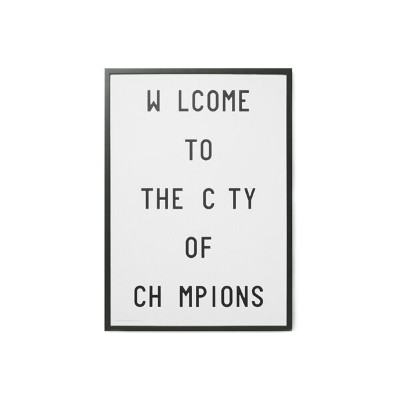 PLAYTYPE アルファベット ポスター/アートプリント 70×100cm Caledonia Jane - Welcome To The City Of Champions【北欧 デンマーク...