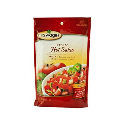 Mrs. Wagesホットサルサトマト調味料ミックス、4オンス ポーチ(2個パック) Mrs. Wages Hot Salsa Tomato Seasoning Mix, 4 Oz. Pouch ...