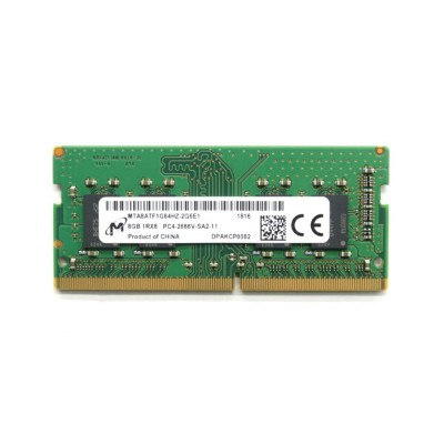 Micron MTA8ATF1G64HZ-2G6E1 8GB PC4-2666V-SA2 DDR4 SODIMM ノートPC用メモリ 【中古】【20200730】