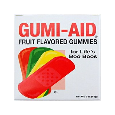 Gumi-Aid Fruit Flavored Gummy Bandages 3 oz Box(Pack of 2) With Love Chocolates Gumi-Aid Fruit...
