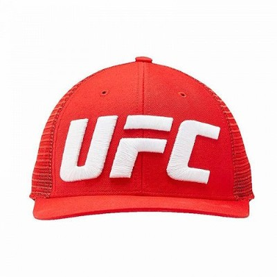 Reebok リーボック UFC Authentic Fight Night 帽子 キャップ Red 格闘技・プロレス【送料無料】【代引不可】【あす楽不可】
