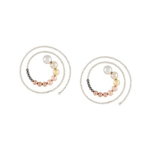 Y/Project spiral beaded earrings - シルバートーン