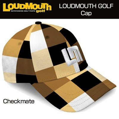 "Loudmouth Cap(Hat) ""Checkmate"" ラウドマウス キャップ(ハット) チェックメイト【新品】Loudmouthゴルフウェア帽子メンズ/レディース"