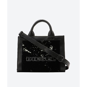 DIESEL(Women)/ディーゼル  Mix Mat. with Leather Tote black クロ【三越伊勢丹/公式】 バッグ~~トートバッグ~~レディース トートバッグ