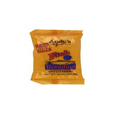 Andy's Fish Breading Red, 10-Ounces (Pack of 12)