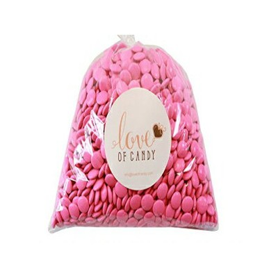 Love of Candy Bulk Candy - Pink Mint Chocolate Lentils - 8lb Bag