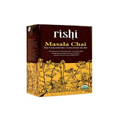 Rishi Tea Concentrate, Masala Chai, 32 Ounce (Pack of 12)
