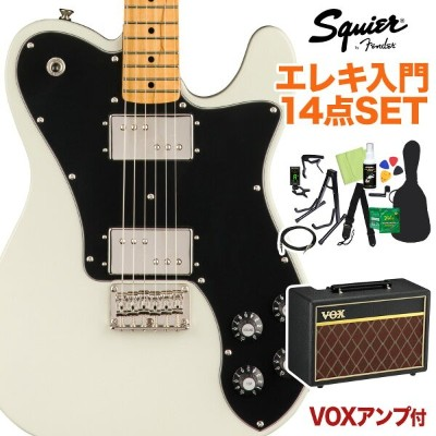 Squier by Fender Classic Vibe '70s Telecaster Deluxe Olympic White 初心者14点セット 【VOXアンプ付き】 エレキギター...