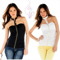 BABY PHAT Rouched Zip Front Halter(ベイビーファットホルターネック)