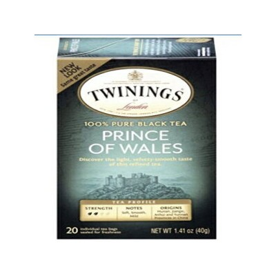 Twinings Prince of Wales Tea, Tea Bags, 20-Count Boxes (Pack of 6) ( Value Bulk Multi-pack)