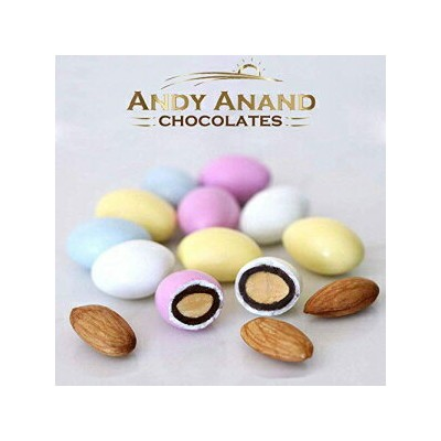 Andy Anand Chocolates Andy Anand Sugar Free Pastel Jordan Almonds Large, Amazing Taste, Gift Boxed ...