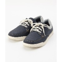 【OFF PRICE STORE(Fashion Goods)(オフプライスストア(ファッショングッズ))】 ◆Clarks Step lsle Lace ネイビーキャンバスシューズ OUTLET ...