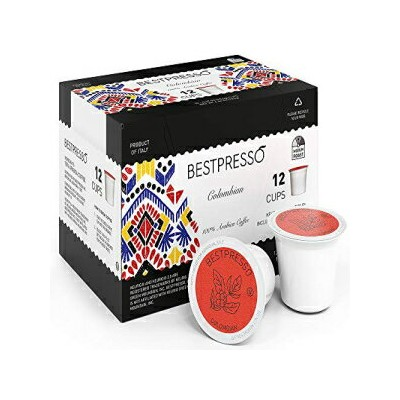 Bestpresso Coffee, Colombian Single Serve K-Cup, 96 Count (Compatible With 2.0 Keurig Brewers) 8...