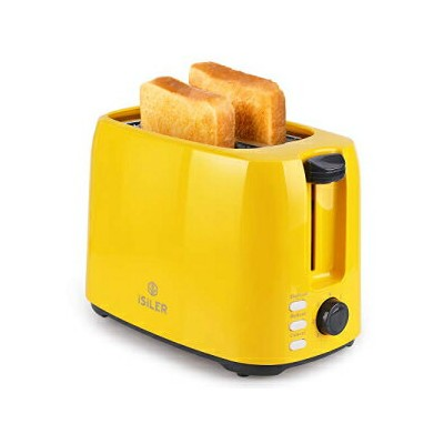 iSiLER 2 Slice Toaster, 1.3 Inches Wide Slot Toa