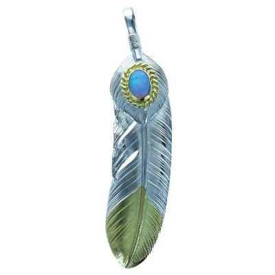 L feather K18 top 02 L heart feather 02 opal 6×8 K18 cup